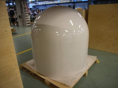 Radome Top NEU w/Labels F/ SAILOR VSAT/GX & SatTV
