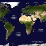 Oceans Seas Of The World Sea Temperatures