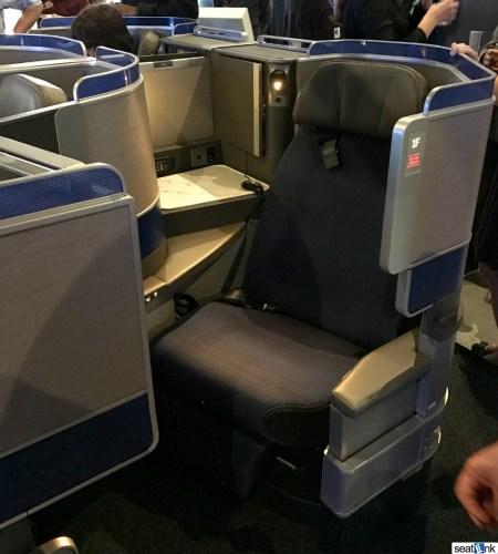 United Polaris Business Class Seat (aisle-side)
