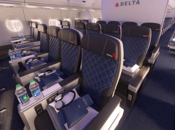 Looking like a 2-4-2 config in Delta A350 Premium Economy, which isn't amazing but isn't horrible