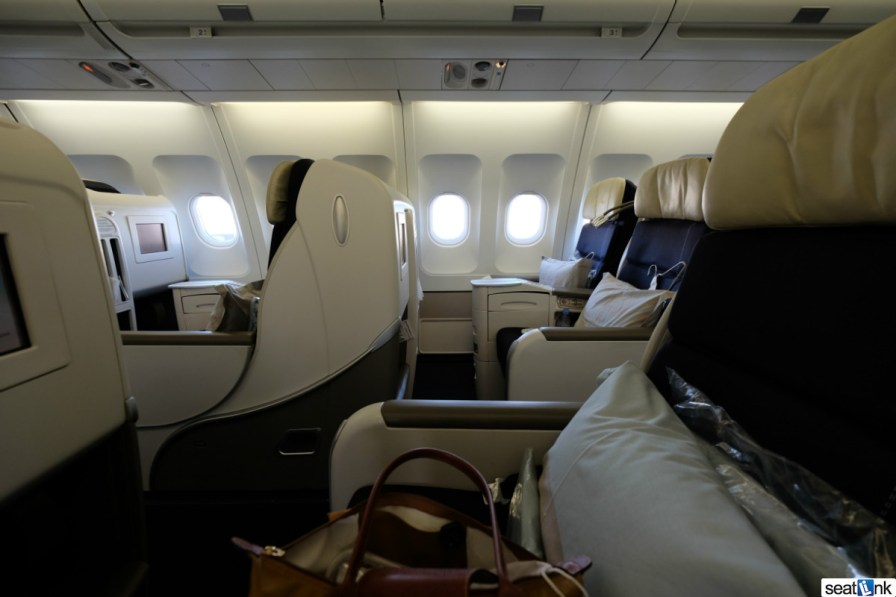 View across the cabin from my seat