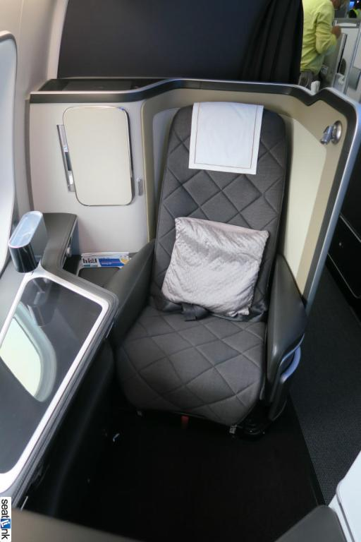 Seat 1K in British Airways 787 new first class