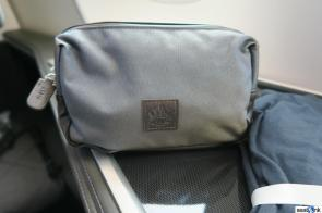The usual British Airways first class amenity kit