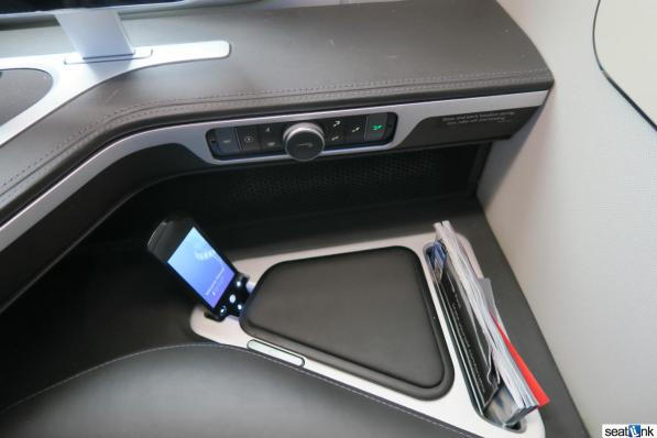 Wider shot of seat and IFE controls