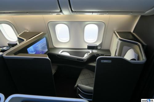 Seat 2K in first class on BA 787