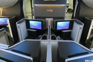 Seats 1E and 1F on the BA 787
