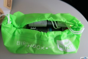 The inside of the Birchbox amenity kit in Mint