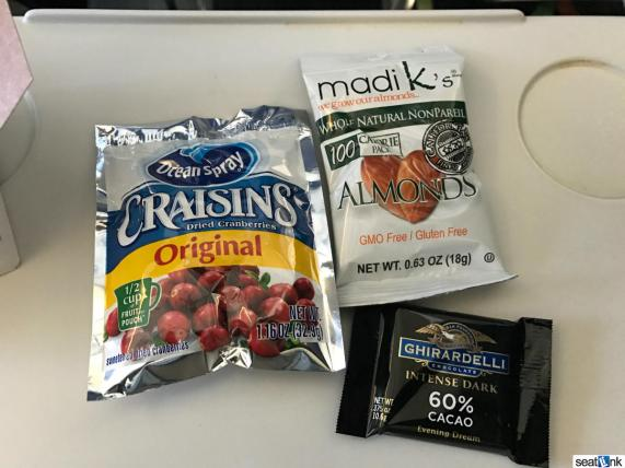 Free Snacks in Alaska Premium Class