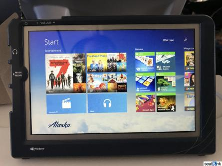 Alaska Airlines inflight tablet (free in Premium Class)