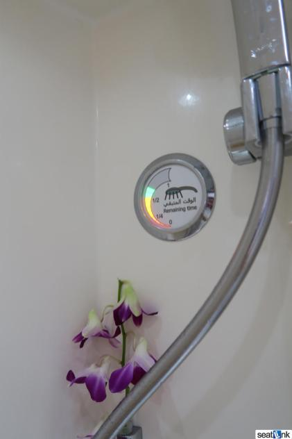 Here's what the Emirates shower timer looks like