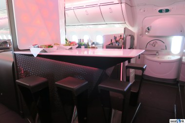The 787 onboard bar for Upper Class passengers