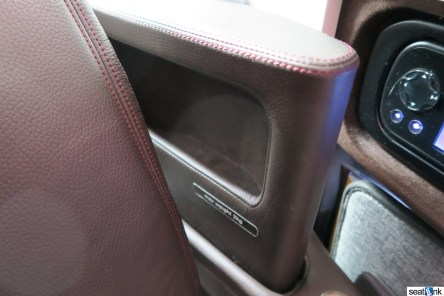 Stowage for phones etc in the armrest