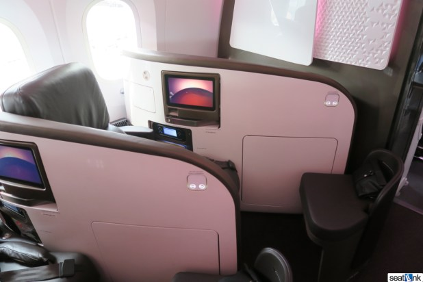 Seat 1A on Virgin's 787 in Upper Class
