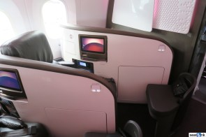 Seat 1A on Virgin's 787 in Upper Class