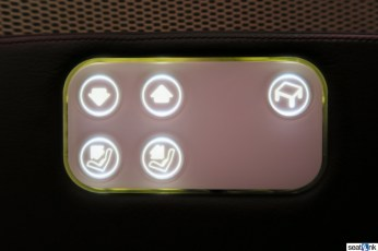 The rather limited seat controls for Virgin's 787 Upper Class