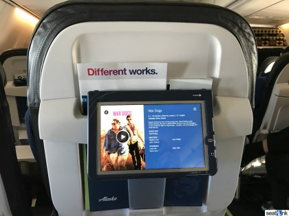 Alaska Airlines tablet-based in-flight entertainment
