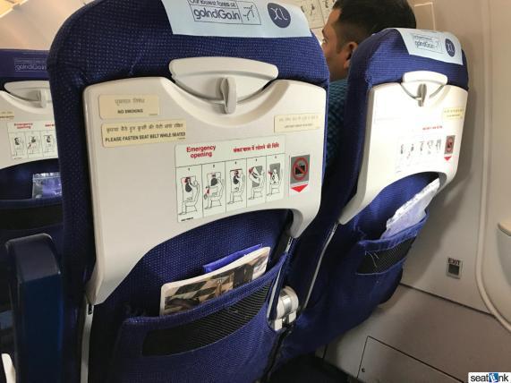 IndiGo A320 seatback