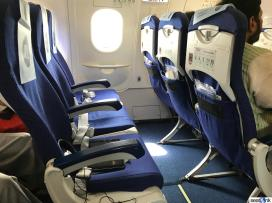 Seats 13A, B, and C on IndiGo A320