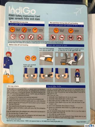 IndiGo A320 safety card