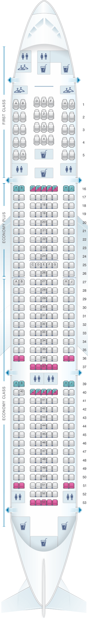 Boeing 777 200 Seat Map United Airlines Wallseat Co