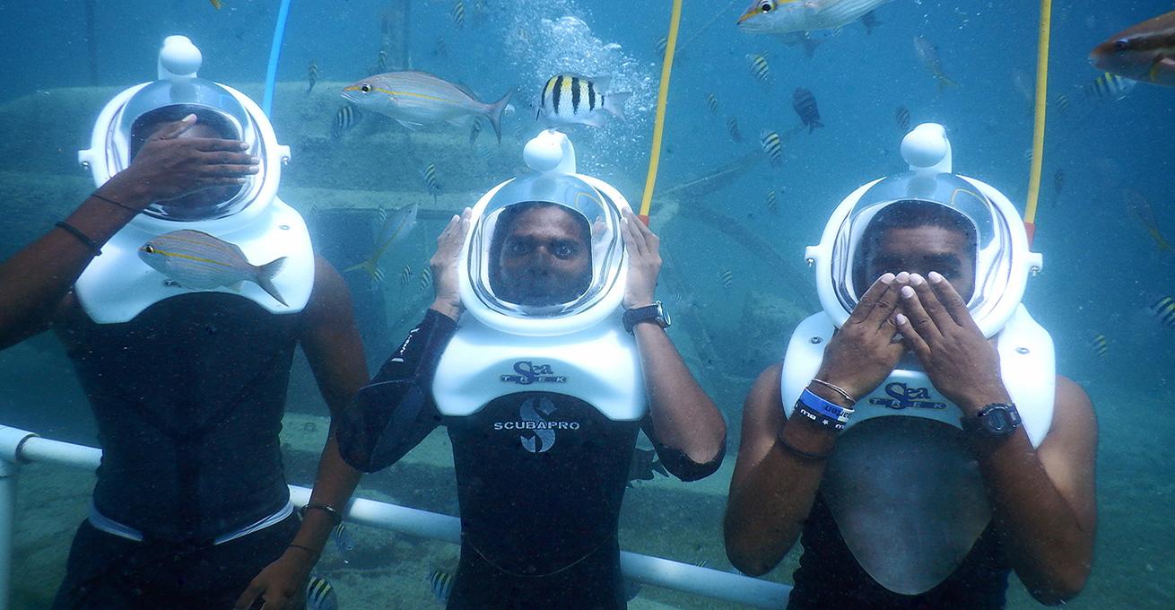 SeaTrek St Maarten Sea Trek Helmet Diving
