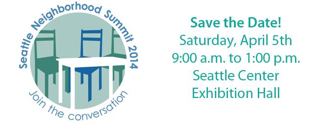 Seattle Neighborhood Summit 2014