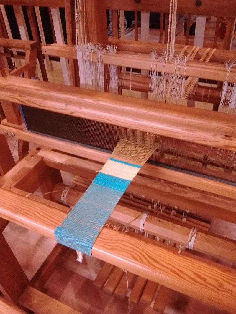 weaving sample on Glimakra loom