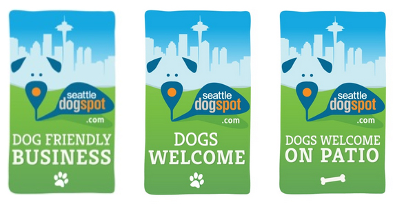 Seattle DogSpot Dog Friendly Business Decals | Seattle, WA