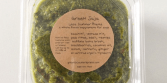 Give your dog's health a boost with organic, locally made Green Juju