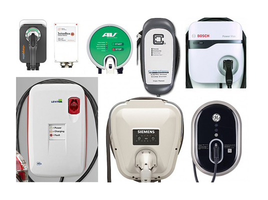Image of home charging units for electric vehicles
