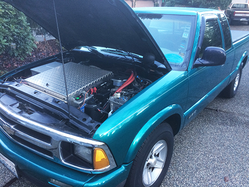 Img of Larry Ryan's Chevy S-10 EV conversion