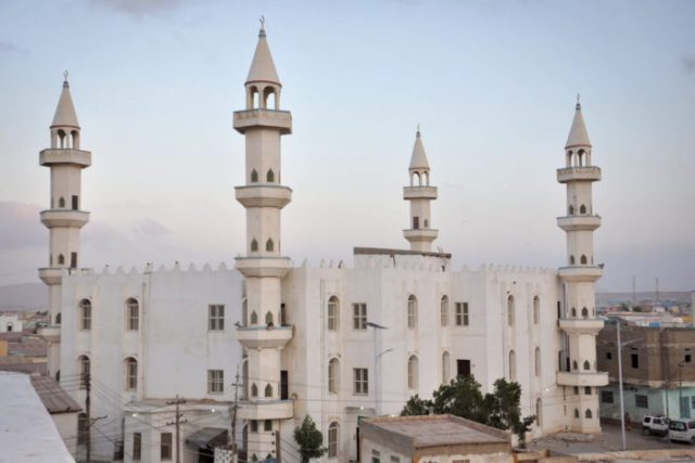 Masjid Rowda, Bosaso, Puntland. (Photo by Ikram Isse)