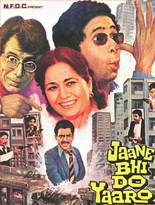 Hindi film poster of Jaane Bhi Do Yaaro from 1983