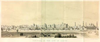 Old drawing of Lahore.