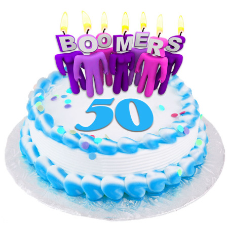Youngest baby boomers turn 50 on December 31st, 2014