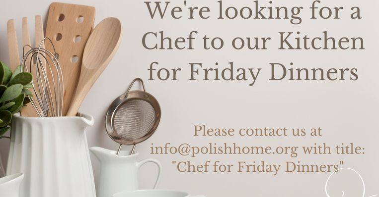 AD: Polish Cultural Center Looks For A Chef
