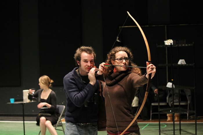 Scott Ward Abernethy as Boyet and Samara Lerman as the Princess of France.