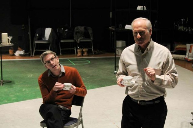 George Mount as Sir Nathaniel and Allan Armstrong as Holofernes.