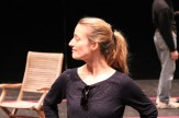 "Jennifer Lee Taylor as Beatrice in rehearsal for ""Much Ado About Nothing."""