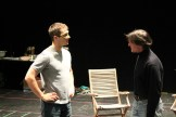 "Jay Myers as Claudio and Nick Rempel as Don John in rehearsal for ""Much Ado About Nothing."""