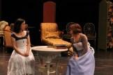 Hana Lass as Cecily and Kate Wisniewski as Miss Prism.
