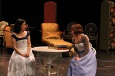 Hana Lass as Cecily and Kate Wisniewski as Miss Prism.