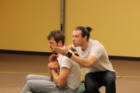 Jay Myers as Orsino and Drew Highlands as Valentine