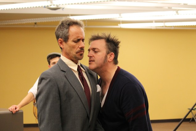David Quicksall as Malvolio and Mike Dooly as Sir Toby.