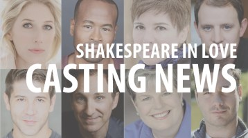 Players to the Stage! Casting Announced for Shakespeare in Love