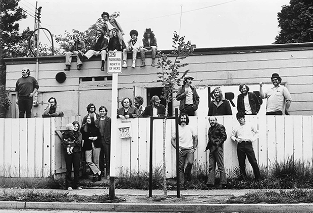 KRAB radio staff at the station's Maple Leaf neighborhood home. Date unknown, probably circa 1970. Photo credit: Paul Dorpat (www.pauldorpat.com)