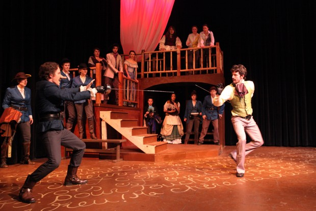 Derring-duel: Cyrano entertains Valvert.