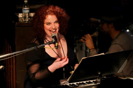 The lovely Leslie Law leads the troops. Photo by John Ulman