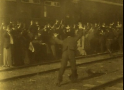 "Now, that's a stick-up! Some dope always tries to make a run. ""The Great Train Robbery"" (1903)"