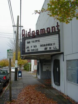 The Ridgemont Theatre marquee in 2000.